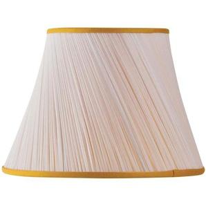 Lampenschirm aus Chiffon, 30 x 18 x 20 cm, Plissee, goldfarben