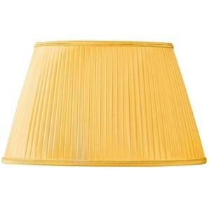 Lampenschirm oval Ø 45 x 27/28 x 20/26,5 cm (Plissee Hand) goldfarben