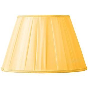 Lampenschirm/Plissee in klassischer Form, Durchmesser 45 x 24 x 30 cm, goldfarben