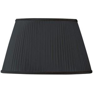 Lampenschirm Plissee oval Ø 45 x 27/28 x 20/26.5 (Handgefaltet) Schwarz