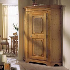Landhaus Garderobenschrank aus Fichte massiv antik abschließbar