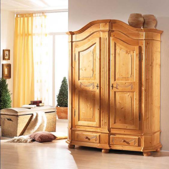 Landhaus Garderobenschrank aus Fichte massiv lackiert abschlie�bar