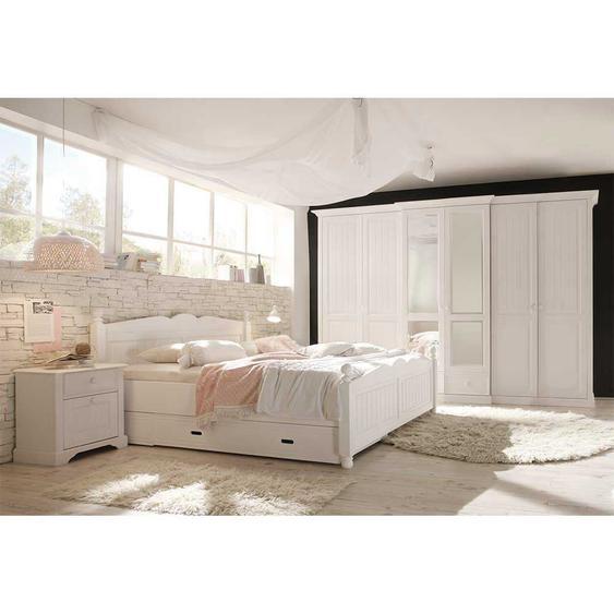 Landhausstil Schlafzimmer in Wei� Kiefer (4-teilig)