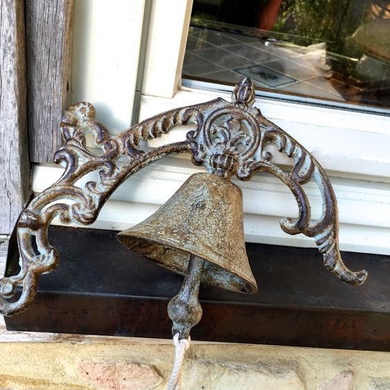 Landhausstil- Wand-Glocke, Tür-Glocke für Traumgärten, Haustür-Glocke wie antik