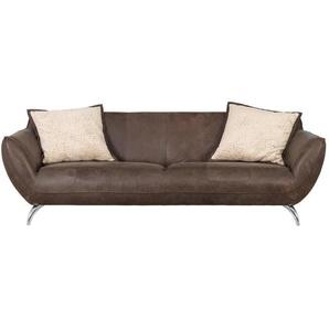 Landscape: Sofa, Dunkelbraun, B/H/T 245 83 115