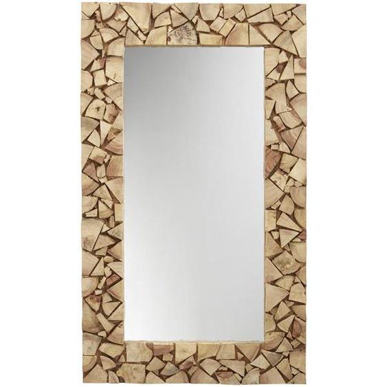 Landscape Spiegel Akazie Braun , Holz, Glas , massiv , 120x70x4 cm
