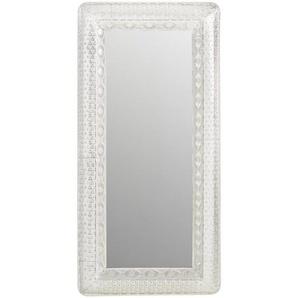 Landscape Spiegel , Silber , Metall, Glas , rechteckig , 58x119x5.5 cm , Wohnspiegel, Wandspiegel