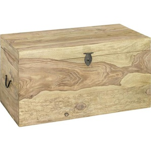 TRUHE Holz Sheesham massiv