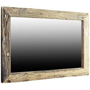 Landscape Wandspiegel , Glas , Altholz , massiv , 120x80x4 cm , Handmade in India , waagrecht montierbar, senkrecht montierbar , Schlafzimmer, Spiegel, Wandspiegel