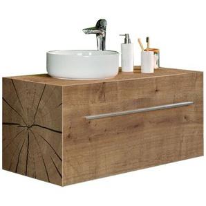 Lanzet Waschtisch mit Unterschrank Woodblock 100 cm