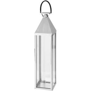 Laterne aus Edelstahl und Glas