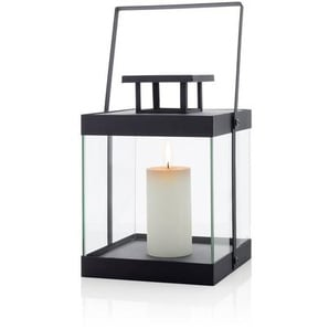 Laterne Finca aus Stahl/Klarglas