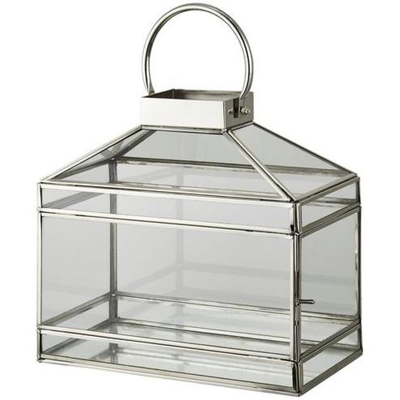 Laterne - silber - Edelstahl, Glas | Möbel Kraft