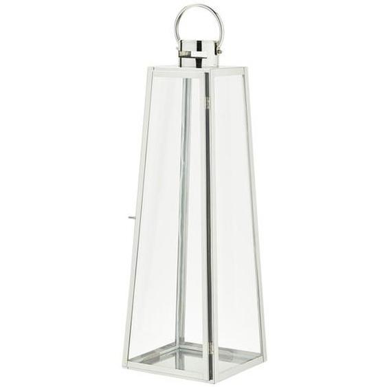 Laterne - silber - Glas , Stahl | Möbel Kraft