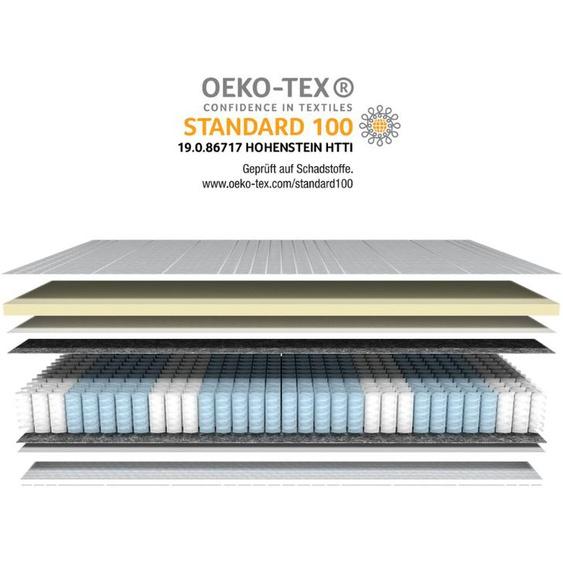 Latex-Taschenfederkernmatratze - 200x200 cm - H2