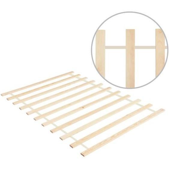 Lattenrost Rollbar mit 11 Latten 100×200 cm Kiefer Massivholz