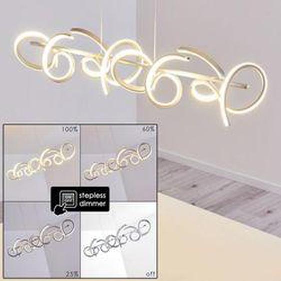 Lavaca Pendelleuchte LED Silber, 4-flammig - Modern - Innenbereich - versandfertig innerhalb von 2-4 Werktagen