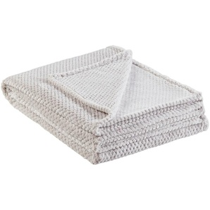 for friends Coralfleecedecke  Mia | grau | 100% Polyester | 150 cm | Möbel Kraft