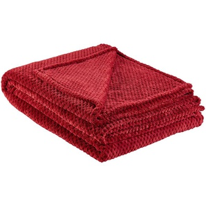for friends Coralfleecedecke  Mia | rot | 100% Polyester | 150 cm | Möbel Kraft