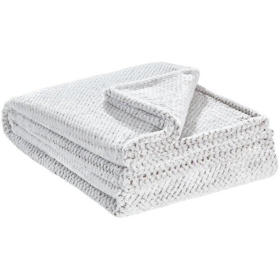 LAVIDA Coralfleecedecke  Mini Mi - braun - 100% Polyester   Möbel Kraft