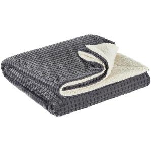 LAVIDA Flanell Fleecedecke | grau | 100% Polyester | 150 cm | Möbel Kraft