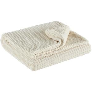 LAVIDA Flanell Fleecedecke | weiß | 100% Polyester | 150 cm | Möbel Kraft