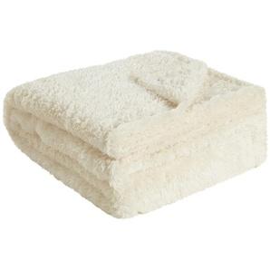 LAVIDA Fleecedecke  Teddy | beige | 100% Polyester | 150 cm | Möbel Kraft