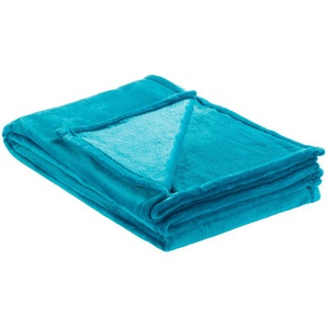 LAVIDA Soft Flauschdecke  Mirabelle | blau | 100% Polyester | 150 cm | Möbel Kraft