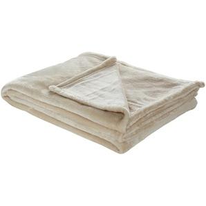 LAVIDA Soft Flauschdecke  Mirabelle | creme | 100% Polyester | 150 cm | Möbel Kraft