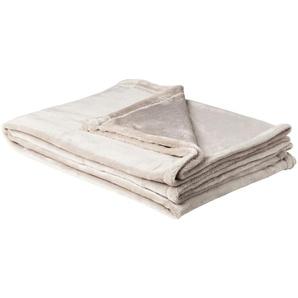 LAVIDA Soft Flauschdecke  Mirabelle | grau | 100% Polyester | 150 cm | Möbel Kraft