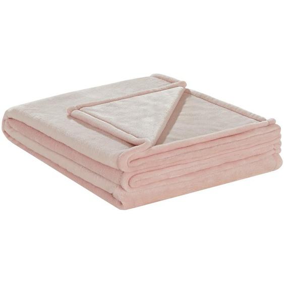 LAVIDA Soft-Flauschdecke  Mirabelle ¦ rosa/pink ¦ 100% Polyester