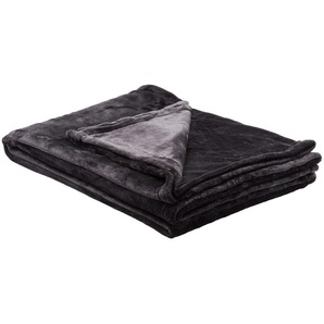 LAVIDA Soft Flauschdecke  Mirabelle | schwarz | 100% Polyester | 150 cm | Möbel Kraft