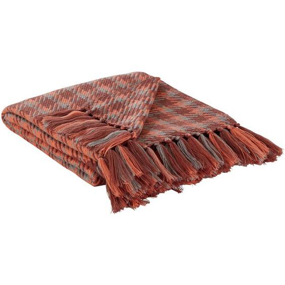 LAVIDA Strick Plaid  Tweed Me - braun - 100% Polyacryl , Polyacryl   Möbel Kraft