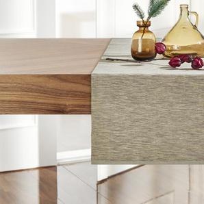 LAVIDA Tischläufer | beige | 95% Baumwolle, 5% Lurex | 40 cm | Möbel Kraft