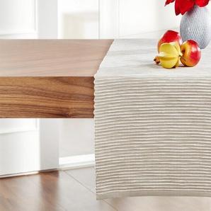 LAVIDA Tischläufer | beige | Baumwolle | 40 cm | Möbel Kraft