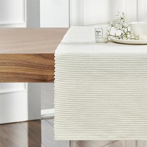 LAVIDA Tischläufer | creme | Baumwolle | 40 cm |