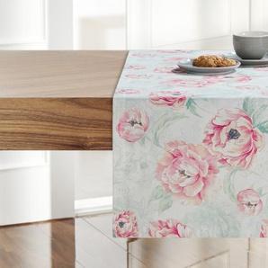 LAVIDA Tischläufer  Ranunkel ¦ rosa/pink ¦ 100% Baumwolle ¦ Maße (cm): B: 40