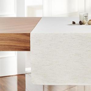 LAVIDA Tischläufer  Rip Lurex | creme | 100% Polyester | 40 cm | Möbel Kraft