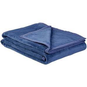 LAVIDA Wohndecke  Catharina ¦ blau ¦ 60% Baumwolle, 40% Polyacryl  ¦ Maße (cm): B: 150
