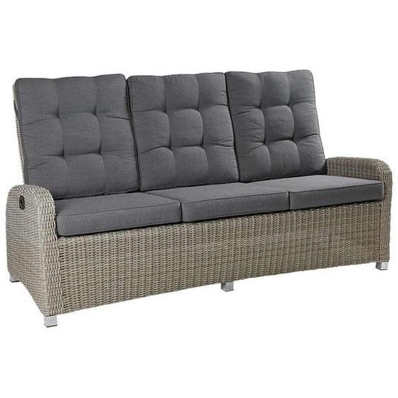 LC Garden Bilbao 3-Sitzersofa Aluminium/Geflecht inklusive Kissen Dunkelgrau|Hellgrau