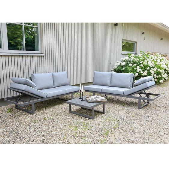 LC Garden Bondino Sofagruppe 3-tlg. Tisch 70cm Dunkelgrau