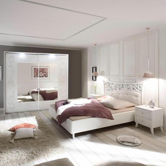 LC Schlafzimmer-Set (Set, 4-tlg) Mit Schwebetürenschrank Breite 225 cm weiß Komplett Schlafzimmer Betten Schlafzimmermöbel-Sets