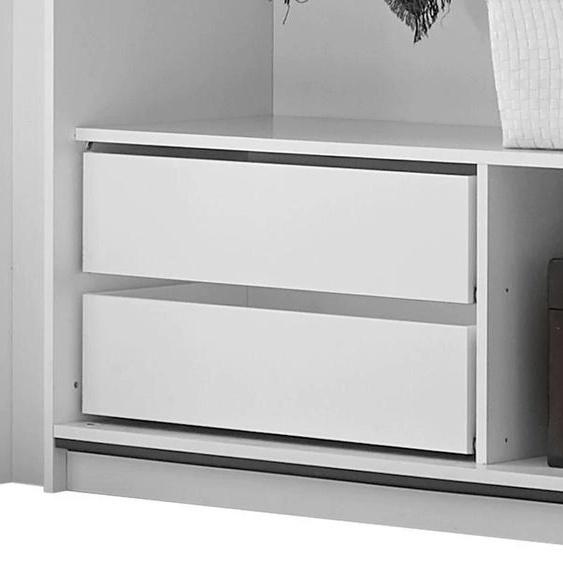 LC Schubkasteneinsatz 119x44x38 cm weiß Zubehör für Kleiderschränke Möbel Schubladen