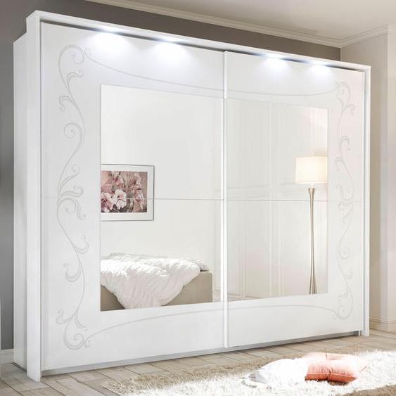LC Schwebetürenschrank Soler B/H/T: 275 cm x 210 64 cm, 2 weiß Schwebetürenschränke Kleiderschränke