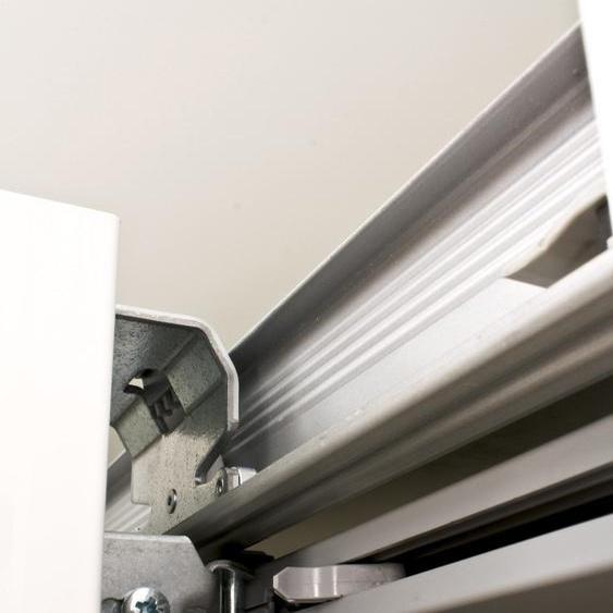 LC Schwebetürselbsteinzug (Set, 2 Stück) 37,2x5,5 cm grau Zubehör für Kleiderschränke Möbel Türdämpfer