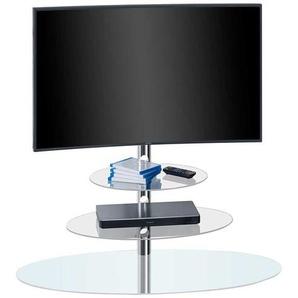 LCD-Standfuß aus Glas und Metall 110 cm