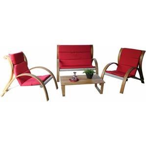 Leco Holzgruppe Rustik rot