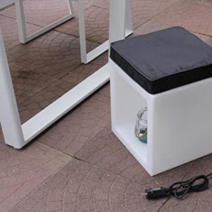 Leco Offener Würfel inkl. Sitzkissen Hocker Weiß, Schwarz ca. L B 38 x H 38 cm