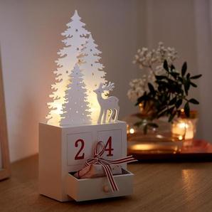 LED-Adventskalender - rot -
