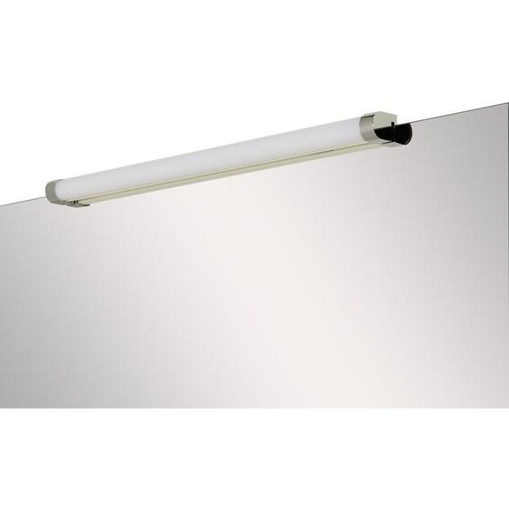 LED-Bad-Wandleuchte, 1-flammig, chromfarben/ Weiß ¦ silber